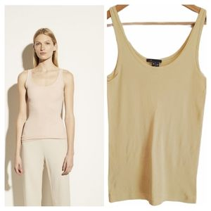Vince. Scoop Neck Camisole Tank Top Yellow Small